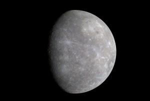 Planeta Mercúrio. Foto tirada pela sonda Messenger.