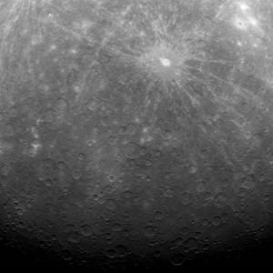 Foto do planeta Mercúrio tirada pela sonda Messenger