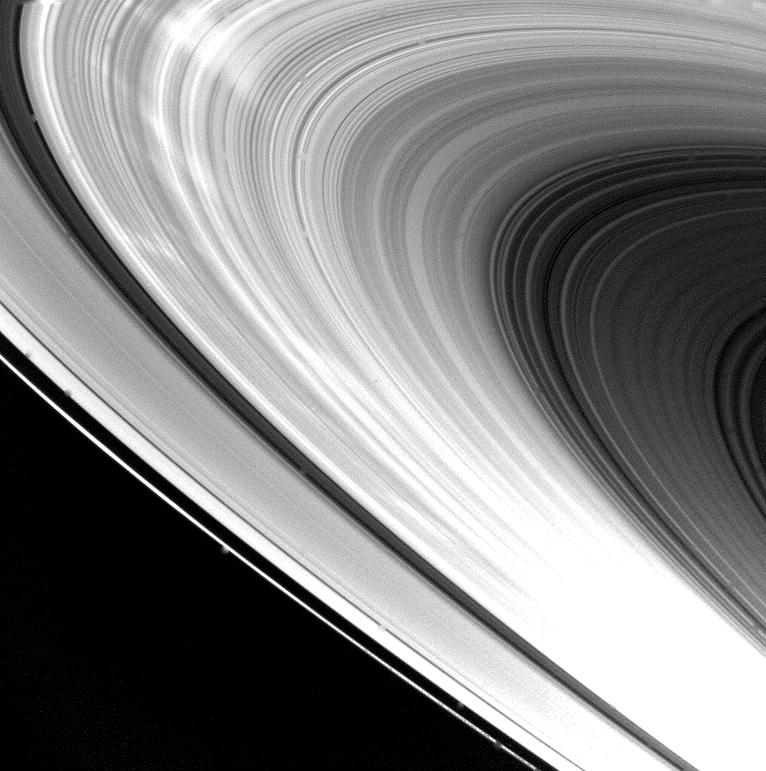 Anéis do planeta Saturno