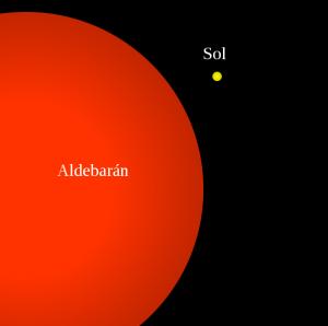 Aldebaran e o Sol