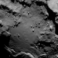 Detalhe do cometa 67P/Churyumov-Gerasimenko - 6 de Agosto de 2014