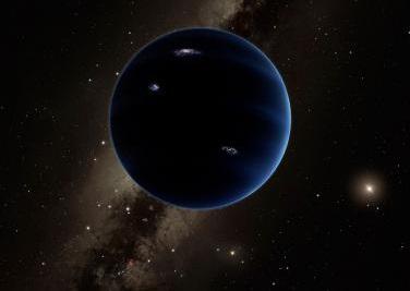 Representação artística de suposto novo planeta